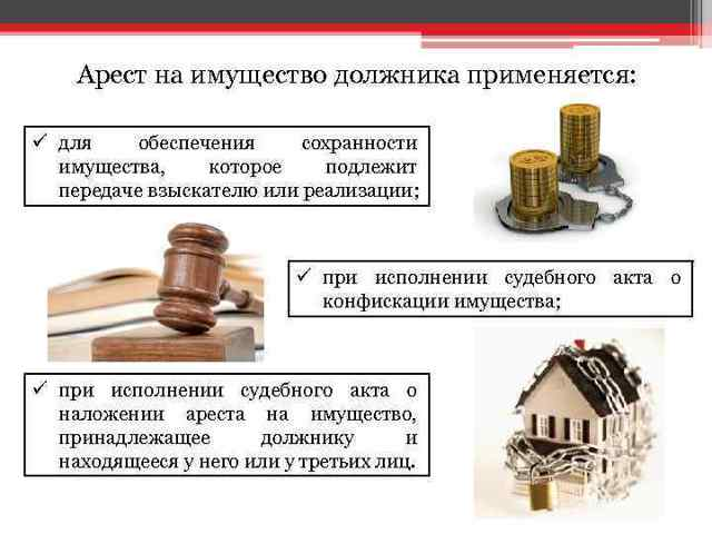 Наложение ареста на имущество при разделе: порядок процедуры, последствия